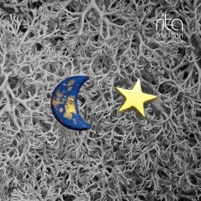 Auskarai - mėnulis ir žvaigždė