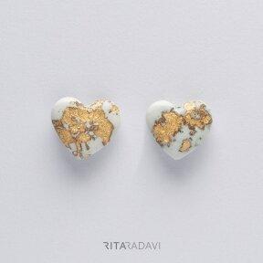 Auskarai - širdutės