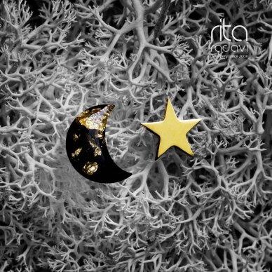 Auskarai mėnulis ir žvaigždė