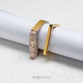 Žiedų komplektas iš nerūdijančio plieno