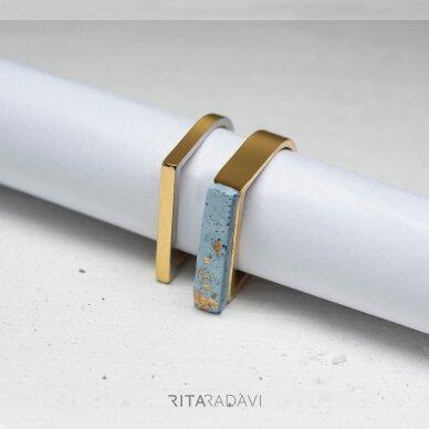 Žiedų komplektas iš nerūdijančio plieno 2